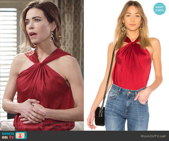 Elizabeth and James Blaine Top worn by Victoria Newman (Amelia Heinle) on The Young & the Restless
