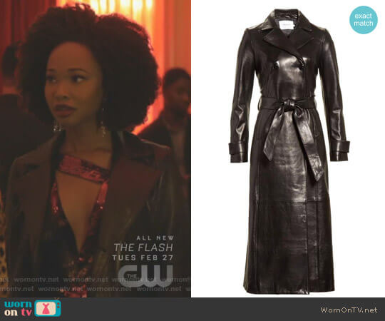 Leather Trench Coat by Frame worn by Wakeema Hollis on Dynasty
