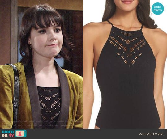 Free People Solstice Bodysuit worn by Tessa Porter (Cait Fairbanks) on The Young & the Restless