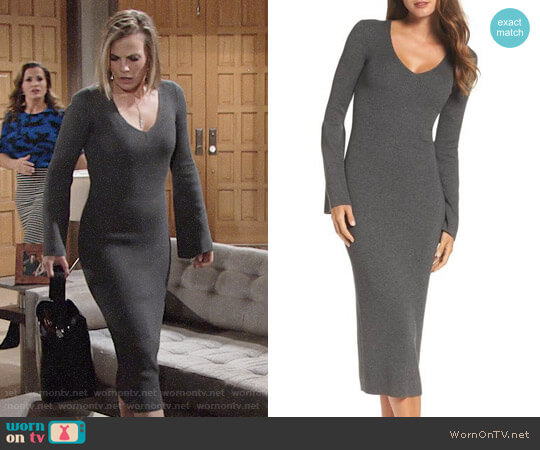 French Connection Virgie Knits Midi Dress worn by Phyllis Newman (Gina Tognoni) on The Young & the Restless