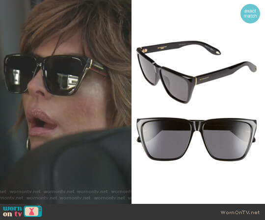 Flat Top Sunglasses by Givenchy worn by Lisa Rinna on The Real Housewives of Beverly Hills