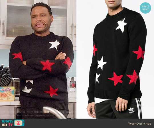 Givenchy Cutout Star Sweater worn by Andre Johnson (Anthony Anderson) on Blackish