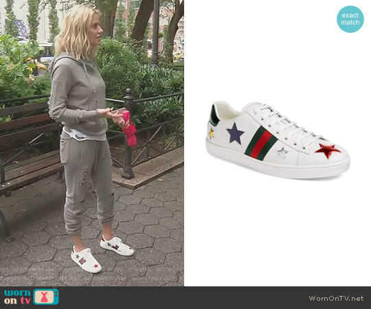 New Ace Star Sneaker by Gucci worn by Dorit Kemsley  on The Real Housewives of Beverly Hills