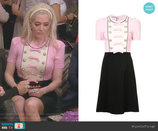 Bow Detail Dress by Gucci worn by Erika Girardi  on The Real Housewives of Beverly Hills