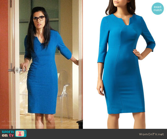 Hobbs London Clementine Sheath Dress worn by Shelly Bhalla on Jane the Virgin