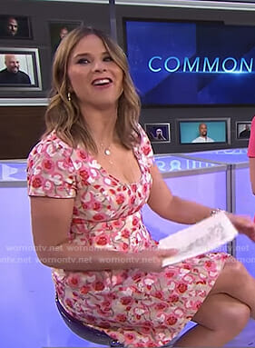 Jenna's pink floral embroidered dress on Today
