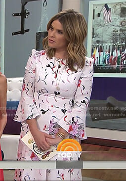 Jenna's white floral keyhole dress on Today