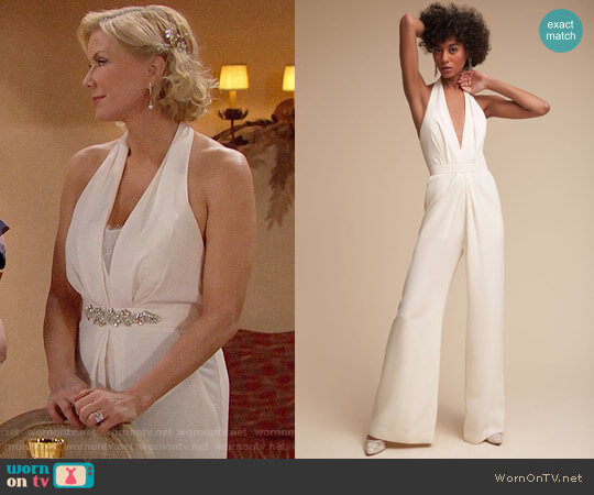 Jill Stuart Mara Jumpsuit worn by Katherine Kelly Lang on The Bold & the Beautiful