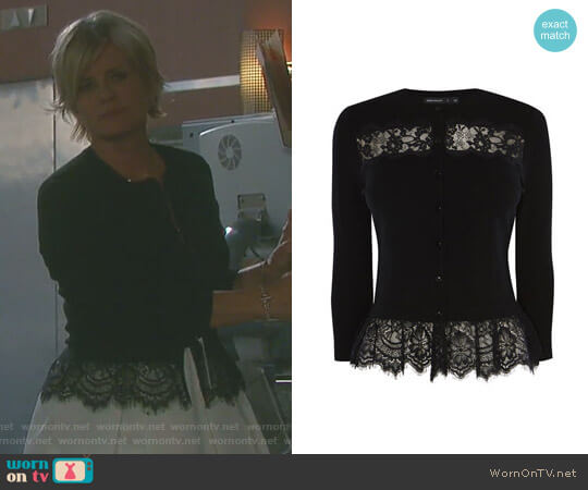 Lace Cardigan by Karen Millen worn by Mary Beth Evans on Days of our Lives