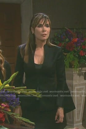 Kate's black bell sleeve jacket on Days of our Lives
