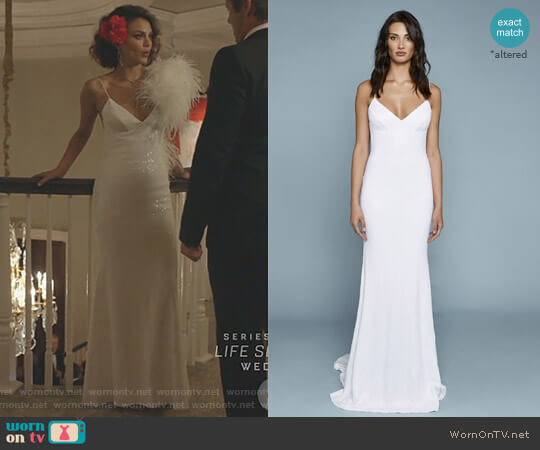 Sequin Lanai Gown by Katie May worn by Nathalie Kelley on Dynasty