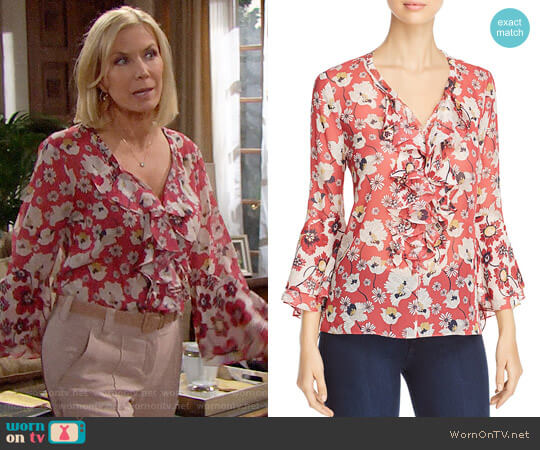 Kobi Halperin Agatha Blouse worn by Katherine Kelly Lang on The Bold & the Beautiful