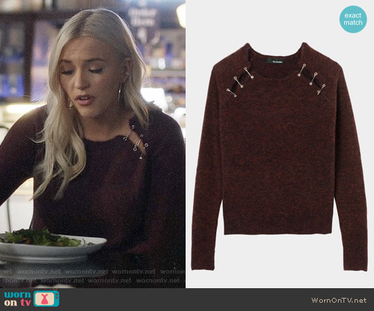 The Kooples Sweater with Safety Pin Embellishments worn by Lennon Stella on Nashville