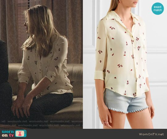 L'Agence Ryan Paisley Print Shirt  worn by Kaitlin Doubleday on Nashville