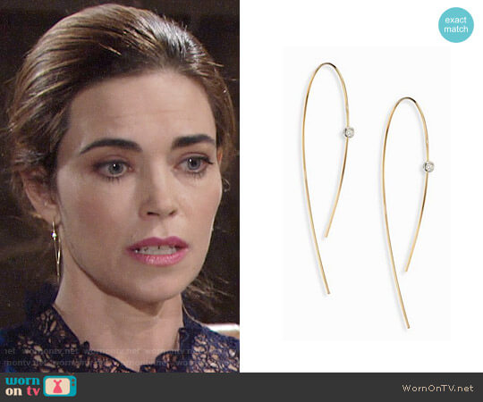 Lana Jewelry Hooked On Hoop Diamond worn by Amelia Heinle on The Young & the Restless