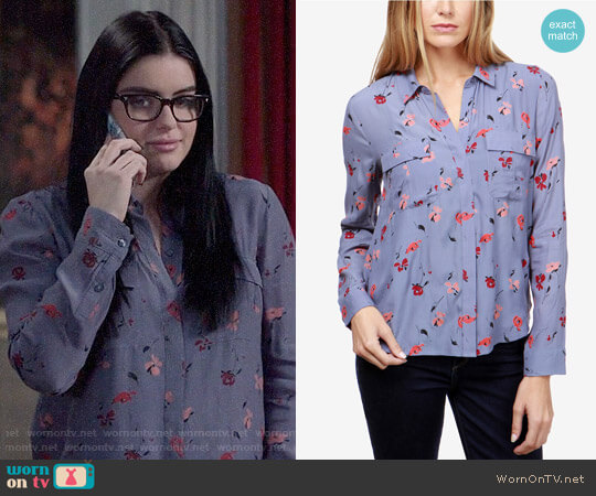 Lucky Brand Floral-Print Flap-Pocket Shirt worn by Alex Dunphy (Ariel Winter) on Modern Family