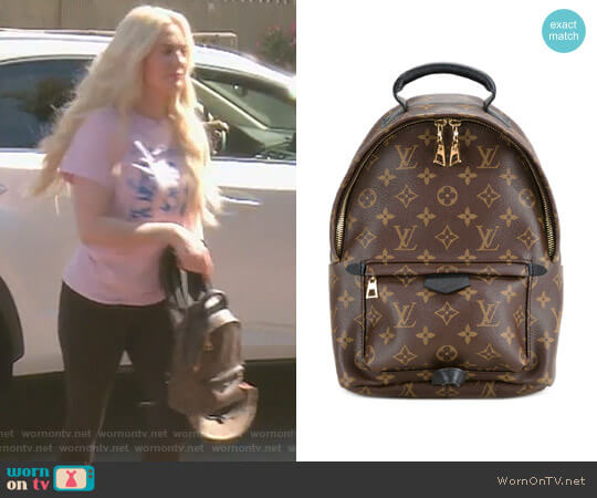 Palm Springs MM Backpack by Louis Vuitton worn by Erika Girardi (Erika Girardi) on The Real Housewives of Beverly Hills