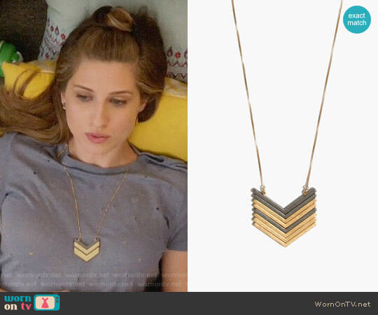 Madewell Arrowstack Necklace worn by Emily Arlook on Grown-ish