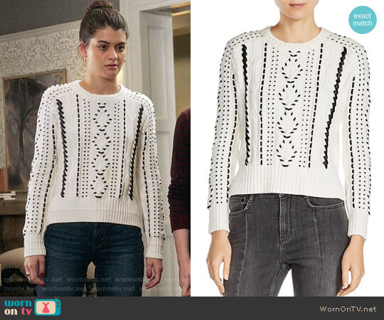 Maje Mila Sweater worn by Sabrina Pemberton (Sofia Black D'Elia) on The Mick