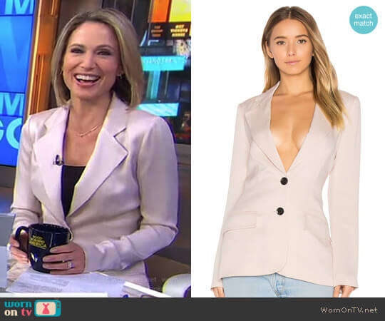 'Lois' Blazer by Marissa Webb worn by Amy Robach on Good Morning America