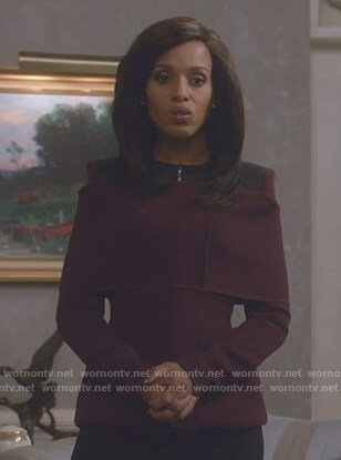 Olivia's purple and black jacket on Scandal