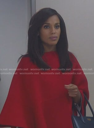 Olivia's red cape coat on Scandal