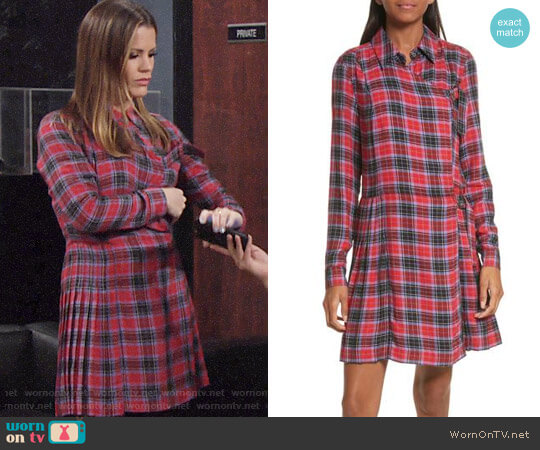 Opening Ceremony Flannel Knit Dress worn by Melissa Claire Egan on The Young & the Restless