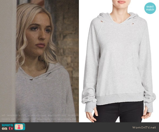 Pam & Gela Hollywood Hobo Hoodie worn by Lennon Stella on Nashville