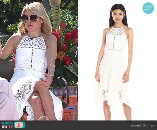 Tulum Combo Dress by Parker worn by Kelly Ripa  on Live with Kelly & Ryan