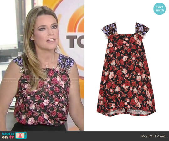 'Paula' Faux Pearl-Embellished Top by Mother of Pearl worn by Savannah Guthrie on Today
