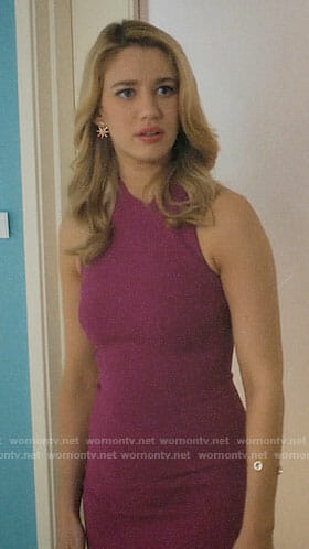 Petra's magenta pencil dress on Jane the Virgin