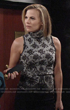 Phyllis's lace turtleneck top on The Young and the Restless