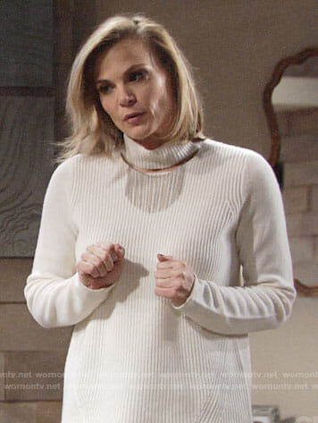 Phyllis's cutout neck sweater on The Young and the Restless