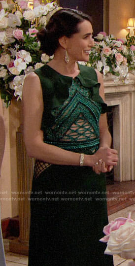 Quinn's green gown on The Bold and the Beautiful
