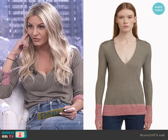 'Alyssa' V-Neck Top by Rag & Bone worn by Morgan Stewart (Morgan Stewart) on E! News