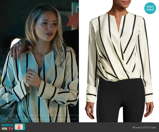 Rag & Bone Max Striped Blouse  worn by Crystal (Kassandra Clementi) on UnReal