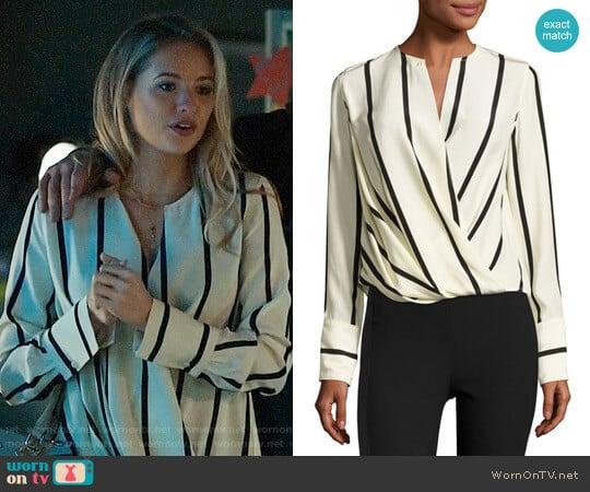 Rag & Bone Max Striped Blouse  worn by Kassandra Clementi on UnReal