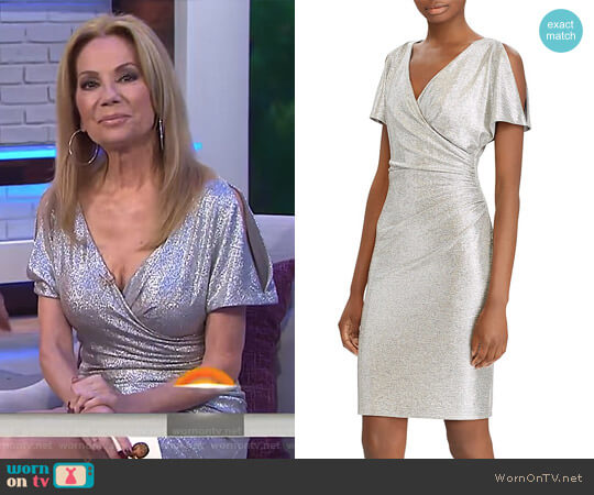 Metallic Cold-Shoulder Dress by Ralph Lauren worn by Kathie Lee Gifford  on Today