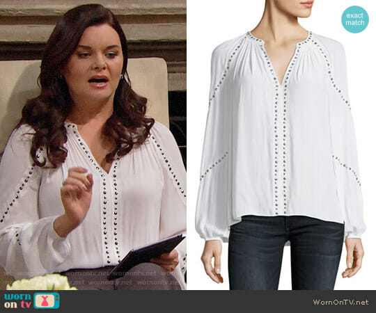 Ramy Brook Gilda Top worn by Heather Tom on The Bold & the Beautiful