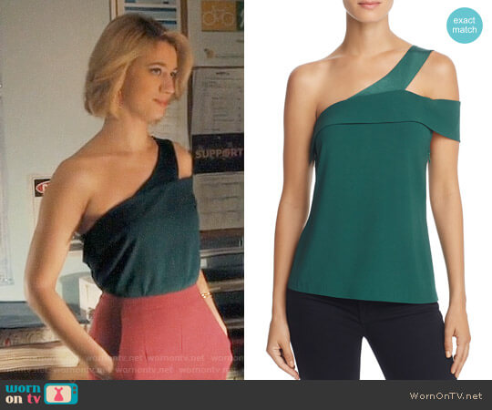 Ramy Brook Luca Asymmetrical Cutout Top worn by Petra Solano (Yael Grobglas) on Jane the Virgin