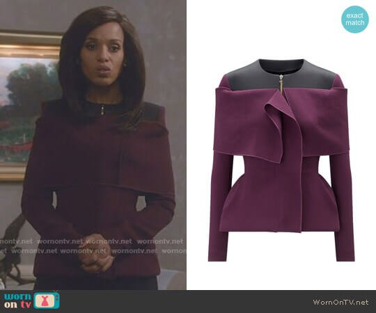 'Eberton' Jacket by Roland Mouret worn by Olivia Pope (Kerry Washington) on Scandal