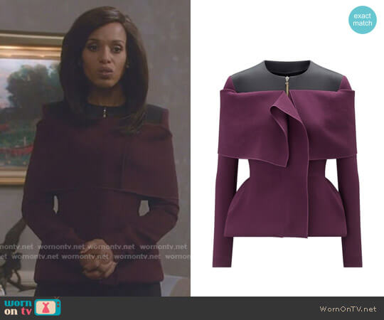 'Eberton' Jacket by Roland Mouret worn by Kerry Washington on Scandal