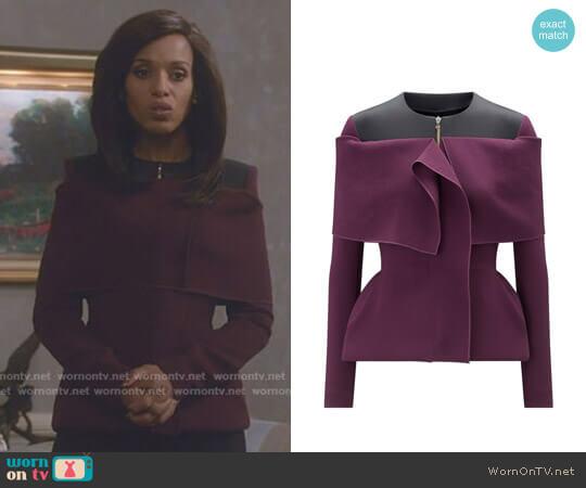 'Eberton' Jacket by Roland Mouret worn by Olivia Pope (Kerry Washington) on Scandal