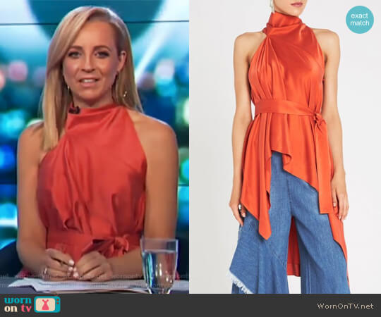 Oxygen Top by Sass & Bide worn by Carrie Bickmore  on The Project