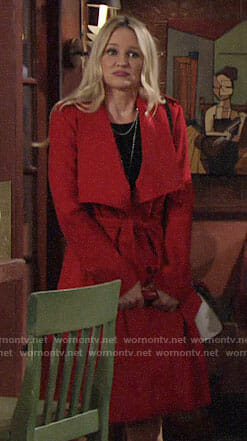Sharon's red coat on The Young and the Restless