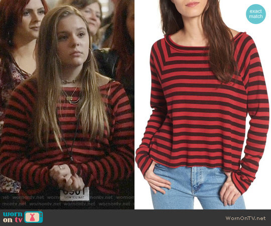 Stateside Stripe Thermal Top worn by Daphne Conrad (Maisy Stella) on Nashville