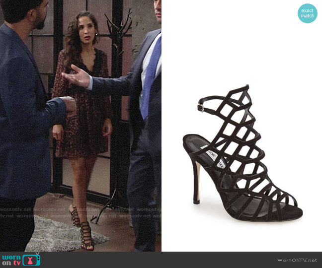 Steve Madden Slithur Sandals worn by Lily Winters (Christel Khalil) on The Young & the Restless