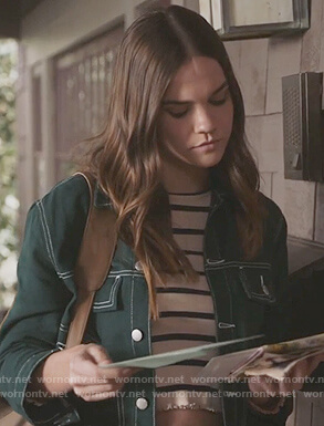 Callie's green denim jacket on The Fosters