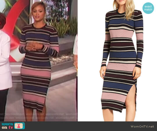 Barrow Stripe Midi Dress by Cupcakes and Cashmere worn by Eve  on The Talk