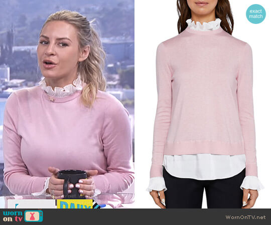 'Kaarina' Layered-Look Sweater by Ted Baker worn by Morgan Stewart  on E! News